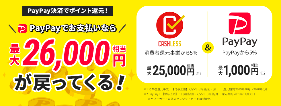 PayPay決済でポイント還元